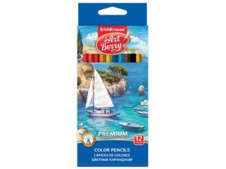 Creioane color hexagonale ArtBerry Premium, 12/set