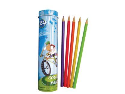 Creioane color triunghiulare Lambo School 24/set