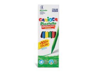 Creioane plastifiate Carioca Plastello 6/set