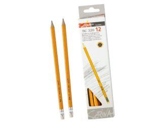 Creion cu gumă Scriva 12/set