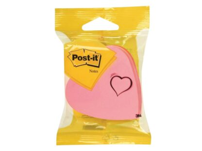 Cub notes adeziv 70 x 70 mm forme, Post-it inimă pachet