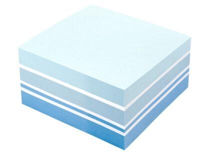 Cub notes adeziv 75 x 75 mm, 400 file, Info Notes albastru model