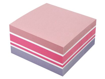 Cub notes adeziv 75 x 75 mm, 400 file, Info Notes roșu model