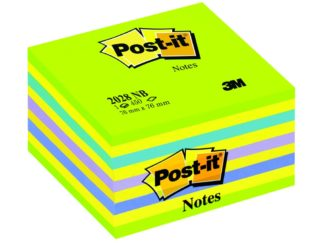 Cub Notes adeziv Post-it® Neon 76 verde/galben