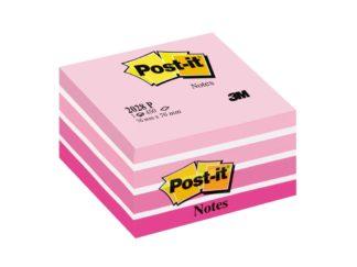 Cub notițe adezive Post-it® Pastel roșu