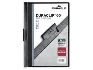 Dosar plastic Duraclip 60 Durable negru