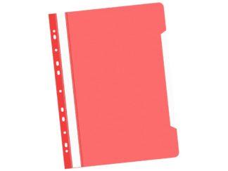Dosar cu șină și multiperforații roșu
