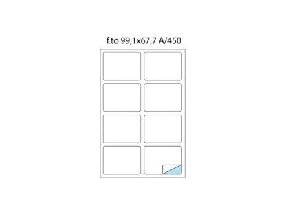 Etichete cu colțuri rotunde A/450