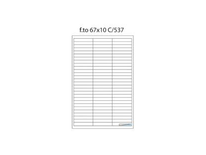 Etichete cu margini C/537