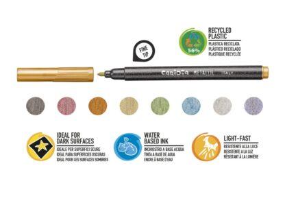 Fineliner Metallic Carioca culori