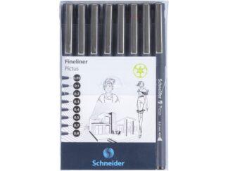 Fineliner Schneider Pictus 8 buc/portofel