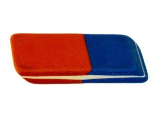 Gumă de șters mare din cauciuc bicolor
