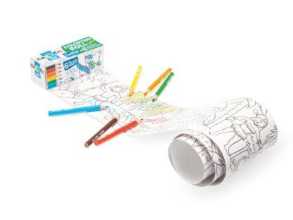 Hârtie Mini Coloring Roll Carioca 85x10 cm Jungle exemplu