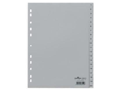 Index plastic A4 1-20 Durable