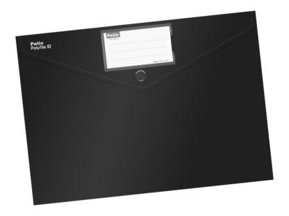 Mapă cu buton A4 culori mate negru