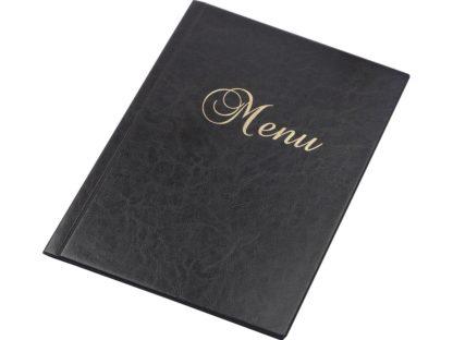 Mapă meniu A4 negru