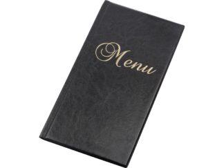 Mapă meniu 1/2 A4 negru