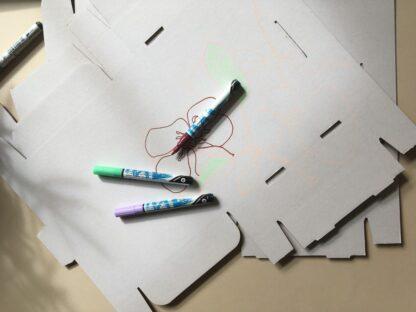 Marker cu vopsea acrilică Paint-It 310 Schneider exemplu 3