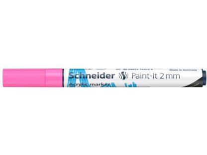 Marker cu vopsea acrilică Paint-It 310 Schneider roz 1