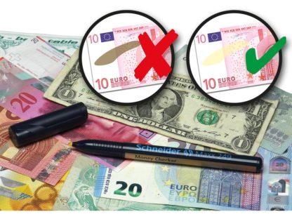 Marker detector de banconote Schneider exemplu