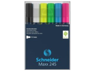 Marker pentru sticla Schneider Maxx 245 6/set