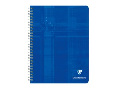 Notebook 17 x 22 cm spiră 4 x 4 Clairefontaine albastru
