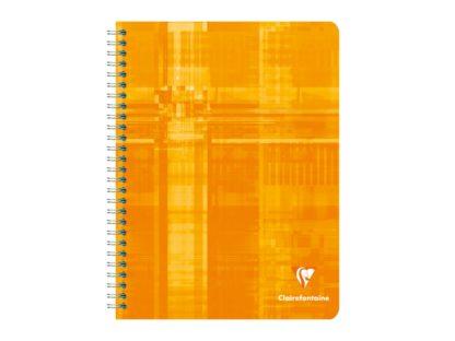 Notebook 17 x 22 cm spiră 4 x 4 Clairefontaine portocaliu