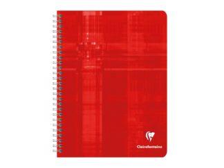 Notebook 17 x 22 cm spiră 4 x 4 Clairefontaine roșu