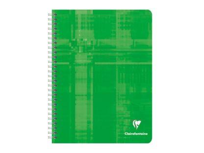 Notebook 17 x 22 cm spiră 4 x 4 Clairefontaine verde