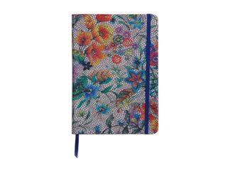 Notebook coperta moale piele, A5, 144 pagini, Clairefontaine Celeste Multicolored flowers