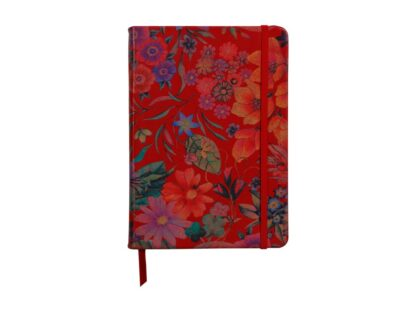 Notebook coperta moale piele, A5, 144 pagini, Clairefontaine Celeste Red garden