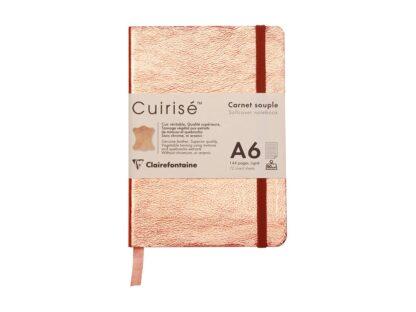 Notebook cu copertă moale din piele Cuirise, A6, Clairefontaine copper