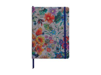 Notebook coperta tare piele, A5, 144 pagini, Clairefontaine Celeste Multicolored flowers
