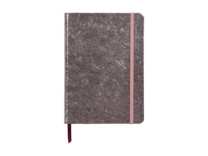 Notebook coperta tare piele, A5, 144 pagini, Clairefontaine Celeste Pink