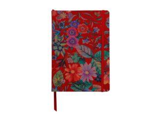 Notebook coperta tare piele, A5, 144 pagini, Clairefontaine Celeste Red garden
