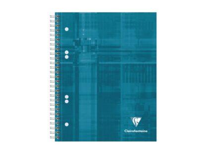 Notebook cu spiră A5+, 90 file, Clairefontaine Bind'O Block albastru