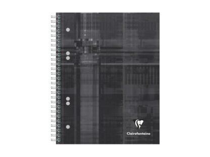 Notebook cu spiră A5+, 90 file, Clairefontaine Bind'O Block negru