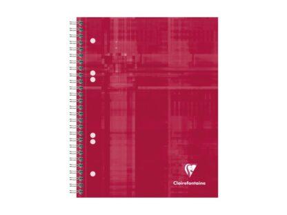 Notebook cu spiră A5+, 90 file, Clairefontaine Bind'O Block roșu