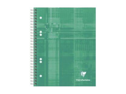 Notebook cu spiră A5+, 90 file, Clairefontaine Bind'O Block verde