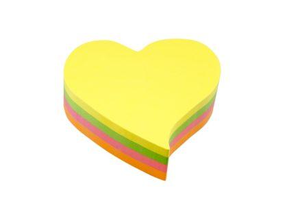 Notes adeziv în forme diferite, mari inimă