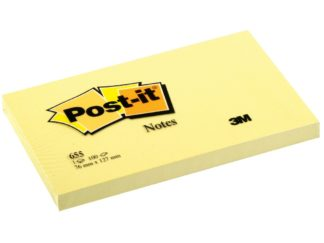 Notes adeziv Post-it® Canary Yellow™ 76 x 127 mm