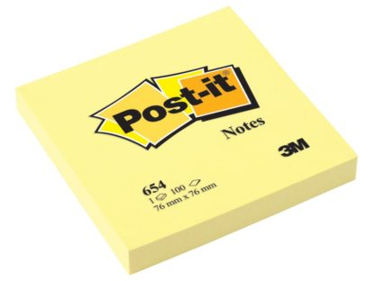 Notes adeziv Post-it® Canary Yellow™ 76 x 76 mm