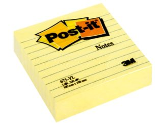 Notes adeziv Post-it® Canary Yellow™ liniat