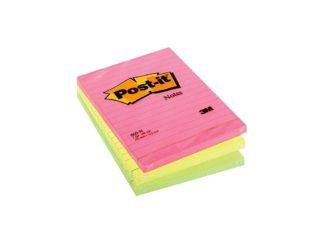 Notes adeziv Post-it® Neon liniat