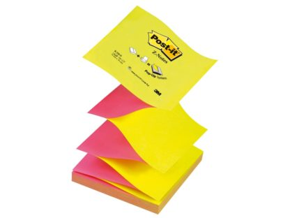 "Notes adeziv Post-it® ""Z"" Neon bicolor"