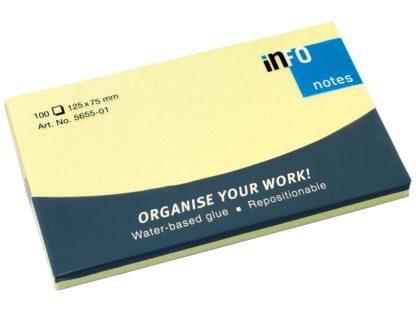 Notes adeziv Yellow 125 x 75 mm