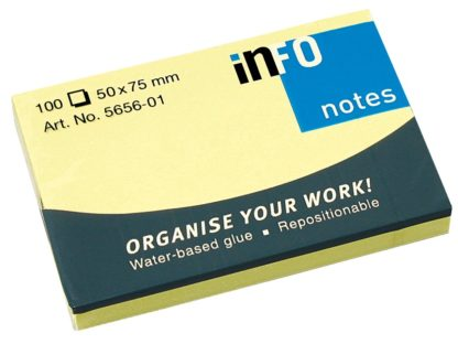 Notes adeziv Yellow 50 x 75 mm