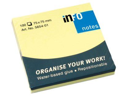Notes adeziv Yellow 75 x 75 mm