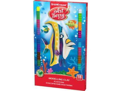 Plastilină ArtBerry cu Aloe Vera, 18 culori + cuțit modelaj