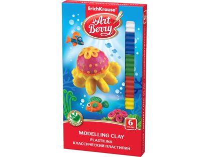 Plastilină ArtBerry cu Aloe Vera, 6 culori + cuțit modelaj